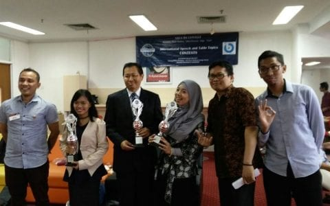 Tel-U International Class Student and Lecturer Achieved the 1st Place of International Speech Contest