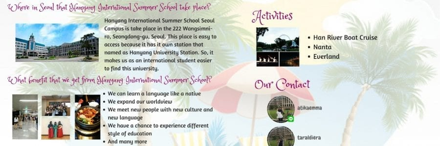 Getting Global Exposure at Hanyang International Summer School
