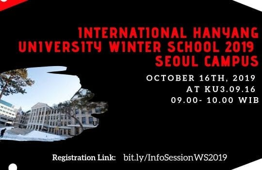 [INFO SESSION] International Hanyang University Winter School 2019 Seoul Campus