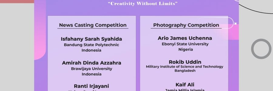 <strong>Closing Ceremony International Creativity Competition 2021and International Webinar.</strong>